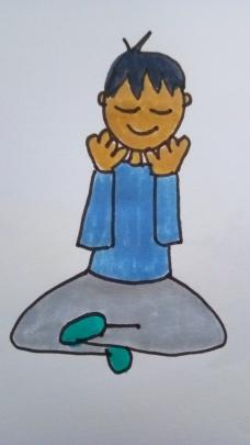 enfant médite
